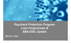 Watch: Paycheck Protection Program, Loan Forgiveness, and SBA EIDL Changes: What You Need to Know